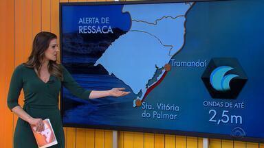 Tempo: instabilidade atinge o Rio Grande do Sul até quinta-feira (1º) - Há chance de pancadas de chuva no estado.