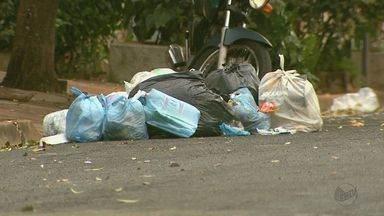 Empresa não recebe da Prefeitura e interrompe coleta de lixo em Ribeirão Preto, SP - Moradores das regiões norte e leste são os mais prejudicados pelo acúmulo do lixo.