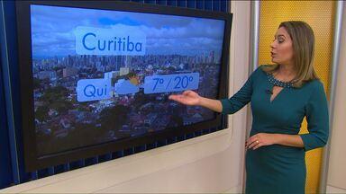Previsão do tempo - Curitiba terá mínima de apenas de 7°C nesta quinta-feira.