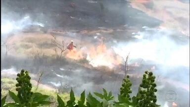 Incêndio destrói mata em Itabira, perto da casa onde viveu Carlos Drummond de Andrade - Fogo estava ao lado da Fazenda do Pontal, na Região Central de Minas Gerais.