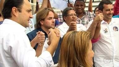 Eros Biondini (PROS), candidato à prefeitura de BH, visita Hospital do Barreiro - Ele se encontrou com profissionais da Saúde, moradores e apoiadores de campanha da região.