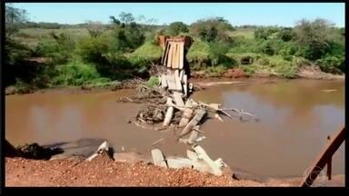 Pontes seguem em condições precárias no Mato Grosso do Sul - Por causa dos problemas nas pontes, algumas famílias estão isoladas.