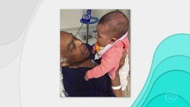 Aos 74 anos, Gilberto Gil cuida de uma insuficiência renal - O cantor Gilberto Gil, de 74 anos, está internado há seis dias em São Paulo para tratar uma insuficiência renal. É a quarta internação no Hospital Sírio Libanês em 2016.