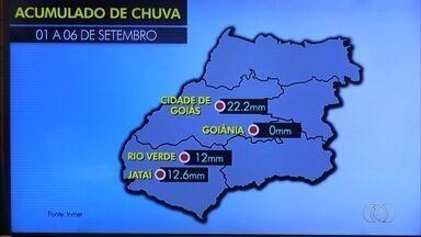 Chuva atinge algumas cidades goianas no início de setembro - Cidades do sul e sudoeste goiano foram as que registraram precipitação.