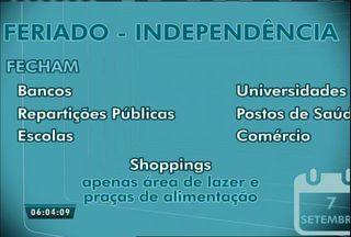 Veja o que abre e o que fecha no feriado de 7 de Setembro em Fortaleza - Maior parte dos estabelecimentos estará fechado nesta quarta-feira (7).