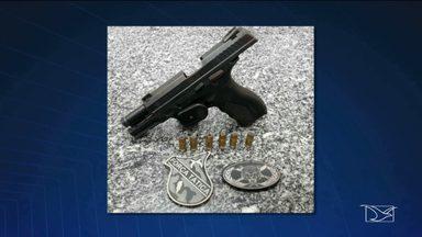 Arma levada de policial durante assalto é recuperada em Açailândia - Veja as informações com a repórter Célia Fontinele.