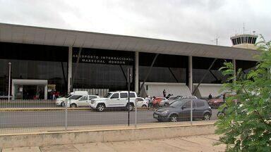 Obras no aeroporto Marechal Rondon só devem terminar em 2017 - Obras no aeroporto Marechal Rondon só devem terminar em 2017.