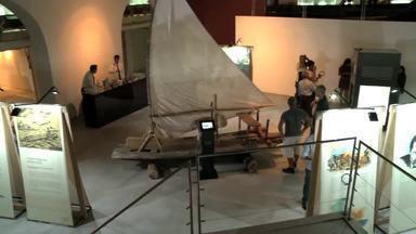 Exposiçãp no Iphan mostra história dos jangadeiros alagoanos - Mostra une o rústico da madeira à tecnologia.