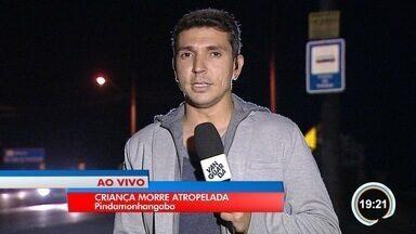 Criança de 10 anos morre atropelada por ônibus - Acidente foi em estrada na zona rural de Pinda.
