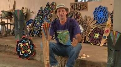 Conheça o José Rogério da Silva, um artesão que cria peças com materiais reutilizados - Conheça o José Rogério da Silva, um artesão que cria peças com materiais reutilizados