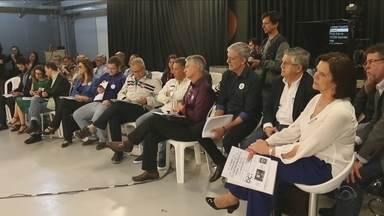Candidatos à prefeitura de Florianópolis participam de debate na manhã desta quinta (15) - Candidatos à prefeitura de Florianópolis participam de debate na manhã desta quinta (15)
