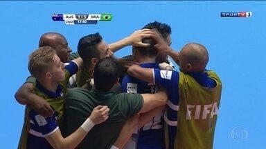 Brasil goleia a Austrália pela Copa do Mundo de Futsal - O placar final foi 11 x 1.