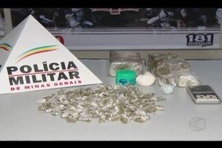 Homem é preso por tráfico de drogas em Uberlândia - Foram apreendidos tabletes de maconha e pó branco, semelhante a cocaína, no Bairro Lagoinha.