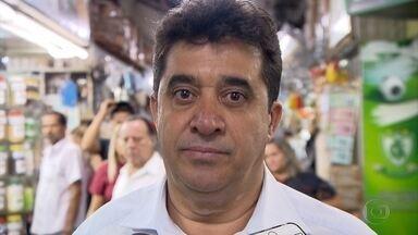 Sargento Rodrigues (PDT) promete mais segurança a comerciantes do hipercentro de BH - Candidato foi ao Mercado Central para conversar com comerciantes.