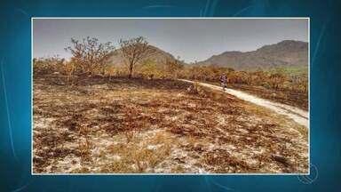 Fogo na Serra de São José, no Campo das Vertentes, é controlado - Segundo Corpo de Bombeiros, 30 hectares foram destruídos. Ainda não há informações sobre as causas do incêndio.