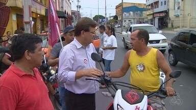 Candidatos à Prefeitura de Manaus fazem caminhadas e reuniões nesta quinta (15) - Rede Amazônica acompanhou agenda do dia de três candidatos.