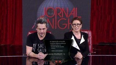 Alexandre Nero e Lilia Cabral apresentam o Jornal Adnight - As notícias que realmente interessam apresentadas por quem entende do assunto