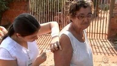 Agentes de saúde vacinam moradores conrta febre amarela em Rio Preto - Agentes de saúde continuam vacinando os moradores que moram perto do local onde um macaco morreu por causa da febre amarela em Rio Preto. Os técnicos pretendem concluir as visitas nas casas neste fim de semana.