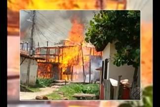 Incêndio destroi casas em passagem de Ananindeua - Curto circuito pode ter provocado o incêndio.