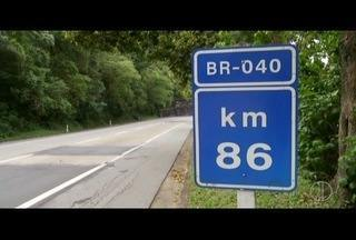 Trechos da BR-040 no RJ são interditados para recuperação de pavimento - Interdições acontecem entre 8h e 18h.