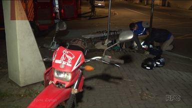 Cresce o número de acidentes envolvendo motos no Paraná - Os números foram divulgados pelo Detran
