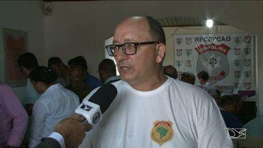 Policiais civis de São Luís realizam protesto apoio ao movimento nacional - Policiais civis de São Luís realizam protesto apoio ao movimento nacional