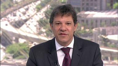 Veja a entrevista que o SPTV fez com o candidato Fernando Haddad, do PT - Assista à quarta entrevista da série que o SPTV faz com os candidatos a prefeito da capital.