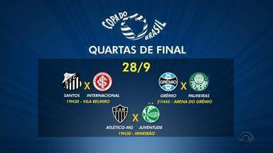 Grêmio, Internacional e Juventude se classificam na Copa do Brasil - Os três times gaúchos estão entre os oito melhores na competição.