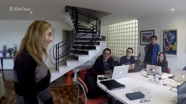 Conheça a dinâmica da casa que abriga 11 amigos - Cissa Guimarães visita amigos que dividem as tarefas da moradia compartilhada