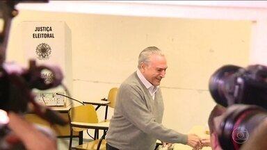 Eleições 2016: Presidente Michel Temer vota em São Paulo - Pouco mais de 144 milhões de eleitores são esperados neste domingo (2) em postos de votação de todo o país para escolher os próximos prefeitos e vereadores de 5.568 municípios.