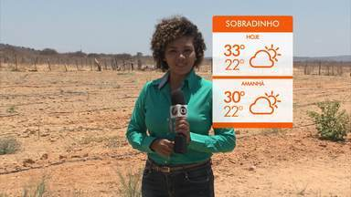 Falta de chuva continua a afetar o município de Sobradinho - Confira na previsão do tempo.