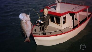 Moro se dá bem na pesca do Tirarucunha - O juiz Sérgio Moro conseguiu, finalmente, pescar o peixão Tirarucunha. Agora que foi pego, ele tá louco para falar tudo o que sabe e um pouquinho mais...