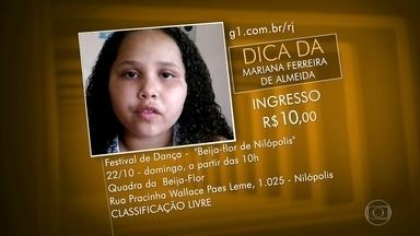 Dicas dos Telespectadores - Show do ImaginasSamba, Festival de Hip Hop em Nilópolis, peças infantis e rodas de samba.