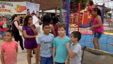 Crianças com epilepsia ganham manhã de festa e brincadeiras - Crianças com epilepsia ganham manhã de festa e brincadeiras