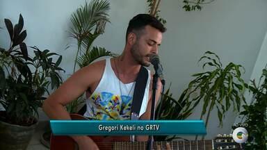 Gregory Kekeli se apresenta no final de semana - O cantor deu uma amostra do seu trabalho