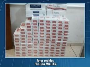 Cigarros contrabandeados são apreendidos em Tupi Paulista - Carga ilícita estava dentro de um carro no Bairro Petrópolis.