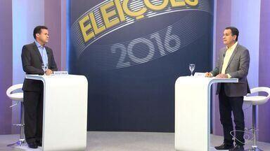 Candidatos à prefeitura de Vila Velha participam de debate da TV Gazeta - Participaram os candidatos dos segundo turno, Neucimar e Max Filho.Debate foi realizado na tarde deste sábado (22).