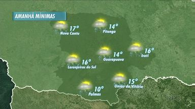 Veja previsão do tempo para domingo - Pode ter pancadas de chuva