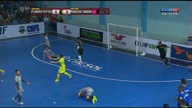 Marechal Rondon goleia o time de Florianópolis pela Liga Nacional de Futsal - Jogo de volta será no dia 6 de novembro, um domingo.