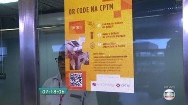 CPTM testa bilhete com leitura de código 'QR Code' na Linha-10 Turquesa - O objetivo é verificar ver se a tecnologia dará maior agilidade aos passageiros e também se reduzirá custos operacionais.