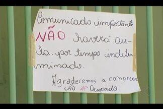 Mais uma escola é ocupada em Uberlândia e promotor fala sobre o assunto - Escola Estadual Sérgio de Freitas Pacheco, no Bairro Tibery foi ocupada na segunda-feira (24). Polícia Militar foi chamada pela direção nesta quarta; movimento tem incomodado moradores da região.