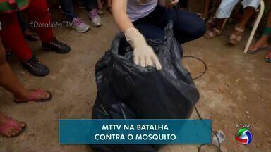 Caixas d'água e garrafas vazias são os principais criadouros da dengue em bairro de Cuiabá - Caixas d'água e garrafas vazias são os principais criadouros da dengue em bairro de Cuiabá