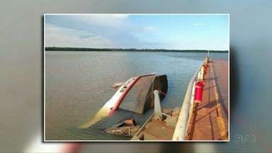 Rebocador naufraga em porto de Santa Helena - A marinha vai investigar o acidente