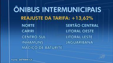 Passagens de ônibus intermunicipais ficam mais caras a partir desta 5ª feira - Reajuste de 13,62% foi autorizado pela Agência Reguladora (Arce).