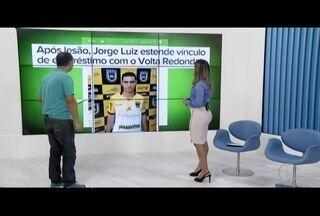 Após lesão, Jorge Luiz estende vínculo de empréstimo com o Volta Redonda - Depois de problema no joelho, meio-campo entra em acordo com a direção do Friburguense e vai ficar no Voltaço para o Campeonato Carioca do ano que vem.