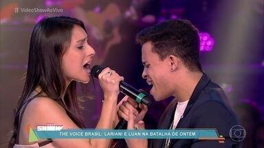 Reveja batalha de Lariani e Luan, no The Voice Brasil - Susana Vieira fala que amou a apresentação