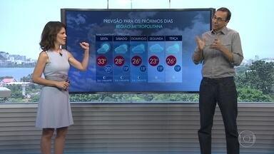 Veja a previsão do tempo para o fim de semana no Rio - Áreas de instabilidade no Sul se deslocam para a região do estado. O fim de semana deve ser de chuva bem forte.