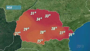 Londrina deve continuar com tempo nublado - O calor vai continuar, e pancadas de chuva devem chegar ainda hoje a Londrina e região.