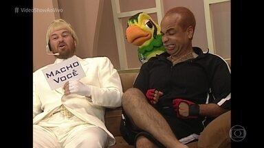 Reveja a sátira do Casseta & Planeta ao Mais Você - O programa de humor criou o 'Macho Você'