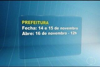 Saiba o que abre e fecha durante o feriado em Montes Claros - Prefeitura funciona a partir do dia 16, ao meio dia.